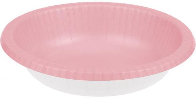 20 Schalen in Pastell Rosa aus Pappe 590 ml