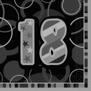 18. Geburtstag Party Servietten Schwarz