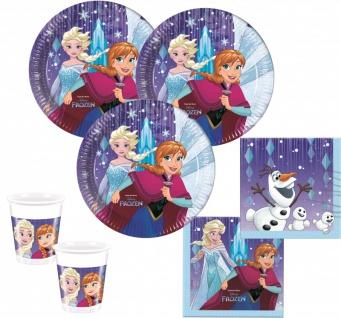 48 Teile Eiskönigin Schneeflocken Party Deko Set - für 16 Kinder