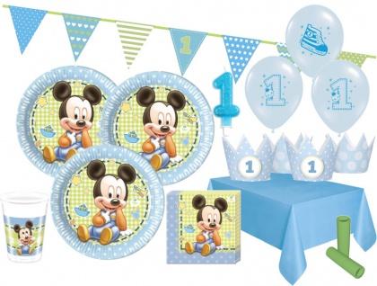 66 Teile Disney Baby Micky Erster Geburtstag Party Deko Set 16 Personen 1. Geburtstag