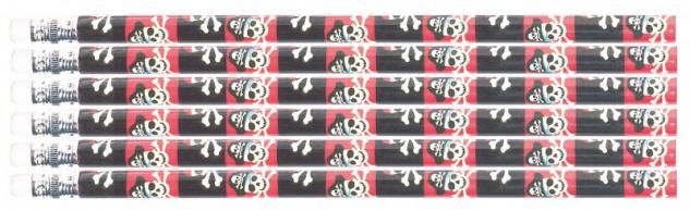 12 Piraten Bleistifte