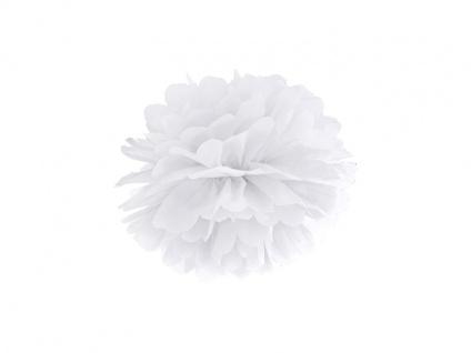 Papier Dekoball Weiß 25 cm Durchmesser PomPom - Vorschau 2