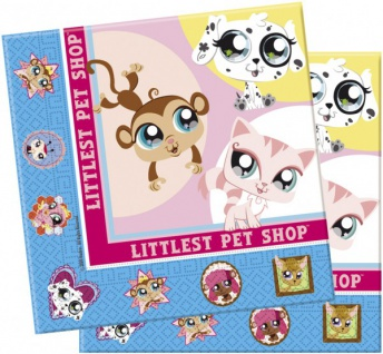 20 Littlest Pet Shop Servietten