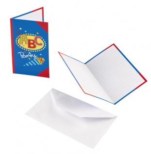 8 Einladungskarten zum Schulanfang