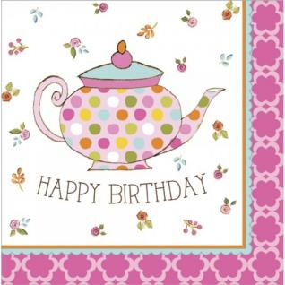 16 Geburtstags Servietten Tea Time