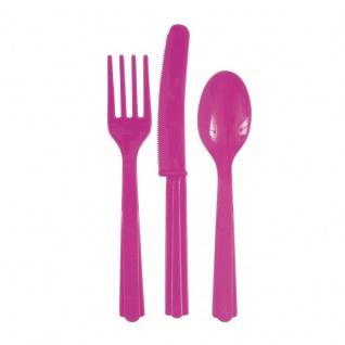 XXL 99 Teile Party Deko Set Neon Pink für 12 Personen - Vorschau 4