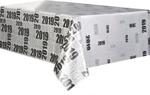 Plastik Tischdecke 2019 Silvester und Neujahr