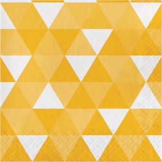 16 Servietten Fractals in Gelb