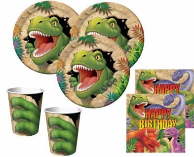 48 Teile Dinosaurier Geburtstags Party Set für 16 Kinder
