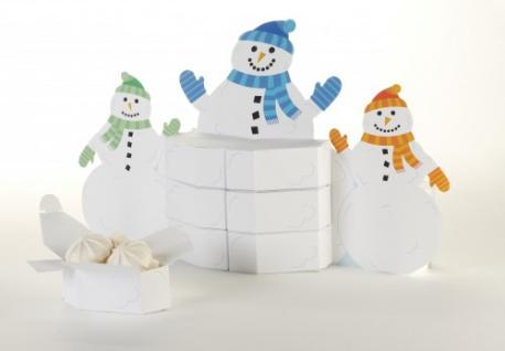 Schneemann Aufsteller Geschenkboxen