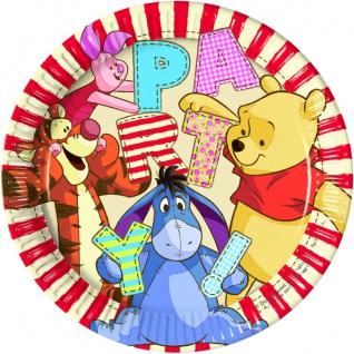 8 Papp Teller Winnie Puuh Party
