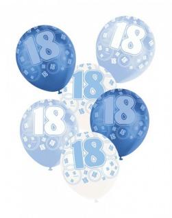 24 Luftballons zum 18. Geburtstag in Blau