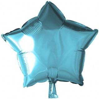Folienballon Stern in Hellblau