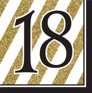 30 Teile Set zum 18. Geburtstag oder Jubiläum - Party Deko in Schwarz & Gold - Vorschau 4