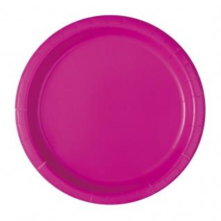20 kleine Papp Teller Neon Pink - Vorschau 1