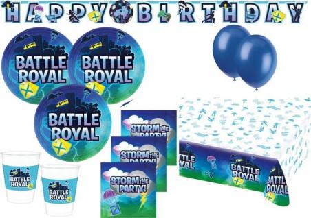XL 44 Teile Battle Royal Party Deko Set 8 Kinder