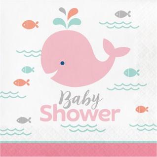 16 Servietten Happy Baby Wal Party Pink Babyshower