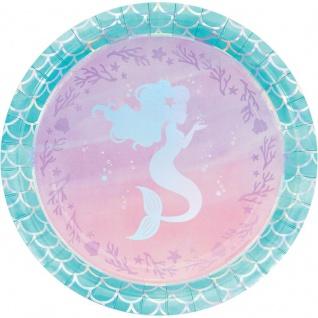 8 Teller schimmernde Meerjungfrau