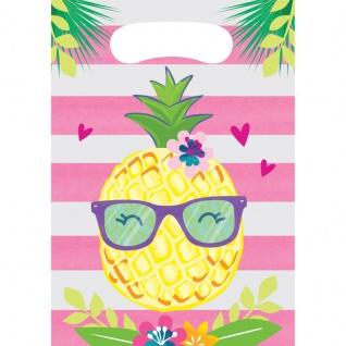 8 Party Tüten Ananas und Freunde