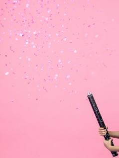 Konfetti Kanone Babyshower - Es ist ein Mädchen! Rosa Punkte 60 cm - Vorschau 2