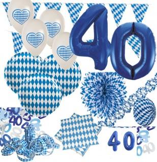 40. Geburtstag XXL 72 Teile Bavaria Party Deko Set Oktoberfest für 20 Personen