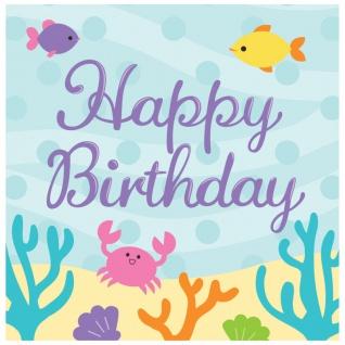 16 Geburtstags Servietten kleine Meerjungfrau
