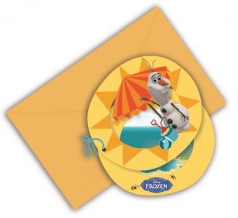 6 Einladungskarten Frozen Eiskönigin Olaf im Sommer
