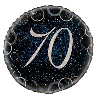 70. Geburtstag Folienballon in Schwarz Blau foliert