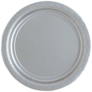 8 Papp Teller Silber