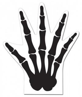 12 Halloween Tüten Knochenhand