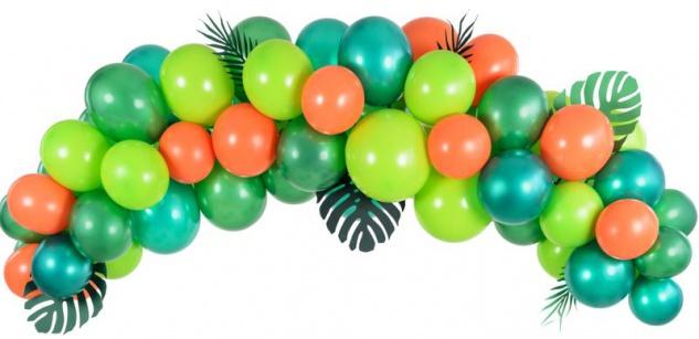 DIY Ballongirlanden 60 Teile Set in Grün und Orange
