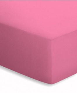 Mako-Jersey Spannbetttuch rosa