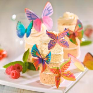 8 essbare Oblaten bunte Schmetterlinge - Vorschau 2