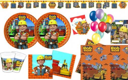 XL 60 Teile Bob der Baumeister Geburtstag Party Deko Set für 6 Kinder