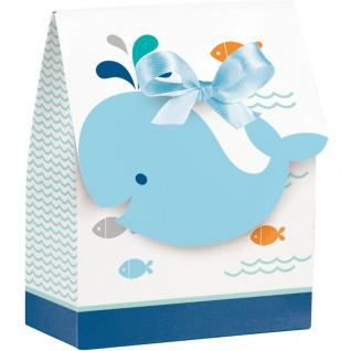 12 Happy Baby Wal Party Blau Geschenk Boxen