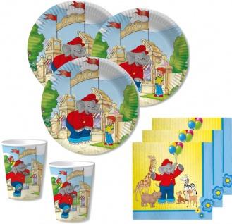 52 Teile Benjamin Blümchen Party Deko Set für 16 Kinder