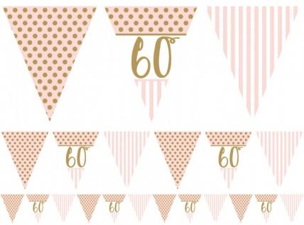 XL 44 Teile Rosa & Gold Glitzer Party Deko Set zum 60. Geburtstag für 8 Personen - Vorschau 5