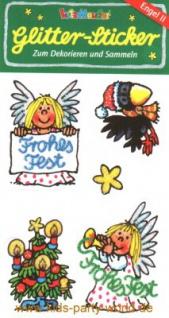 Weihnachten Glitter Sticker
