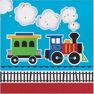 16 Servietten Eisenbahn Party