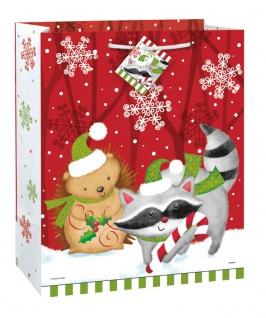 Weihnachts Geschenk Tüte Waldtiere