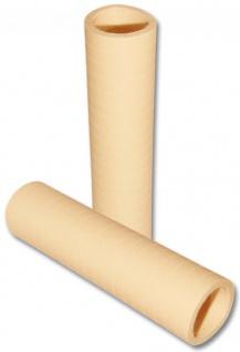 Papier Luftschlangen Elfenbein oder Creme - 1 Rolle a 20 Wurf flammensicher