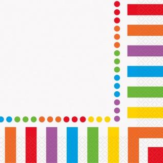 16 Servietten Regenbogen Mix
