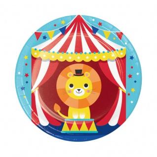 8 kleine Papp Teller Zirkus Party