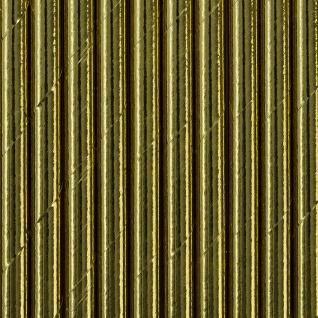 10 Papier Trinkhalme gold glanz