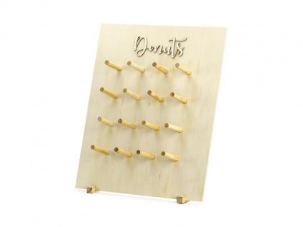 Donut Wand aus Holz - 45 x 55 cm