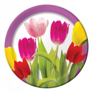 8 Teller Tulpen Freude