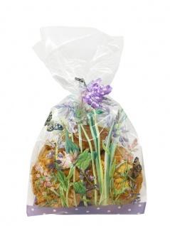 20 Zellophan Tütchen Schmetterlinge mit Verschlüssen