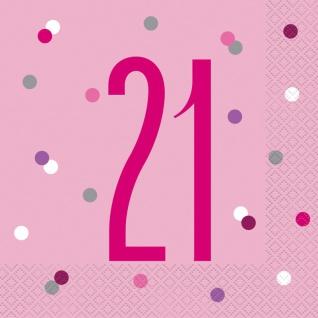 32 Teile 21. Geburtstag Pink Dots Party Set 8 Personen - Vorschau 4