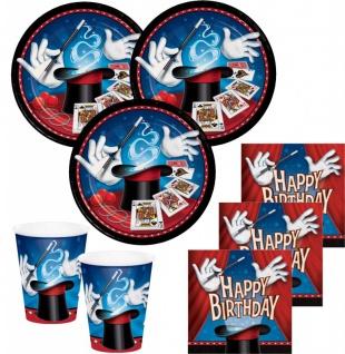 32 Teile Magier und Zauberer Geburtstags Deko Set 8 Personen