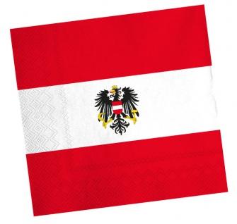 20 Servietten Österreich Party Deko